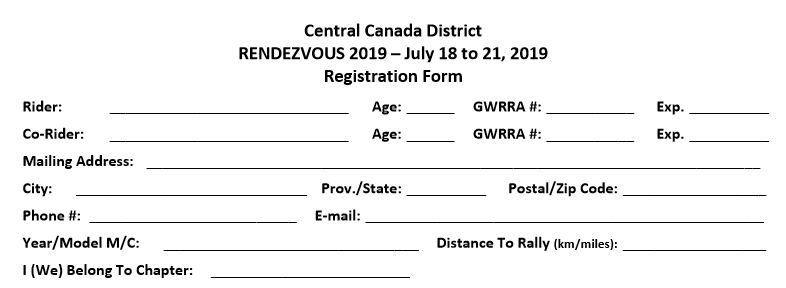 Rendezvous registration form